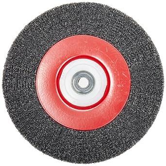 Norton Medium Face Wire Wheel Brush, Round Hole, Carbon Steel, Partial Twist Knotted