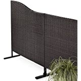 sichtschutz aus rattan braun metallgestell erweiterbar. Black Bedroom Furniture Sets. Home Design Ideas