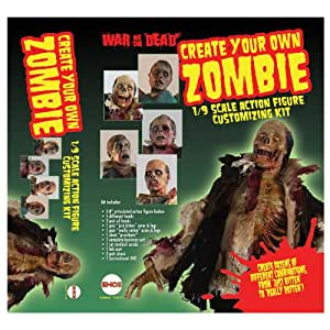Fourth Castle Action Figure 1/9 Scale Customizing Kit Make Your Own Zombie (Set Of 3)