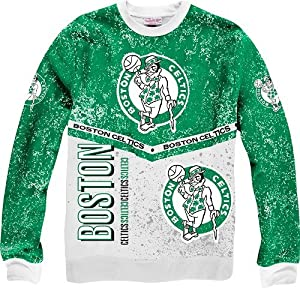 Boston Celtics Mitchell & Ness NBA In The Stands Vintage Crew Sweatshirt by Mitchell & Ness