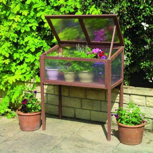 GARDMAN RAISED WOODEN COLD FRAME