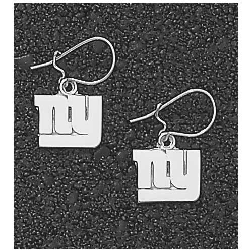 LogoArt New York Giants Sterling Silver Team Font Dangle Earrings