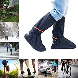 Whose Lemon Thicken Women Men High Boots Waterproof Rain Snow Shoes Cover Reusable Slip-resistant Shoes Covers for Mortocycle Garden Hiking Camping XXL