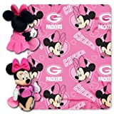NFL Green Bay Packers Minnie Cheerleader 40x50-Inch Throw with 14-Inch Hugger