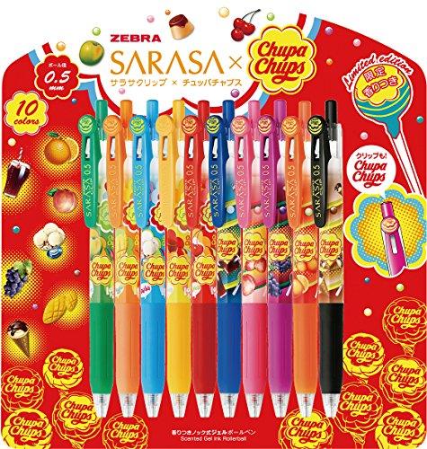 ゼブラ ジェルボールペン サラサクリップ×チュッパチャプス JJ29-CC-10C 10色セット