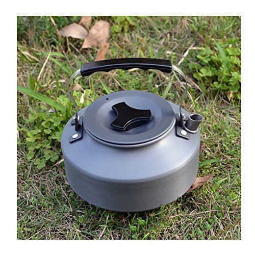 Iperb® Portable Ultra-Light Outdoor Hiking Camping Picnic Water Kettle Heat Exchanger Tea Pot Coffee Pot 1.1L
