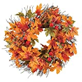 Berry and Autumn Leaves Wreath