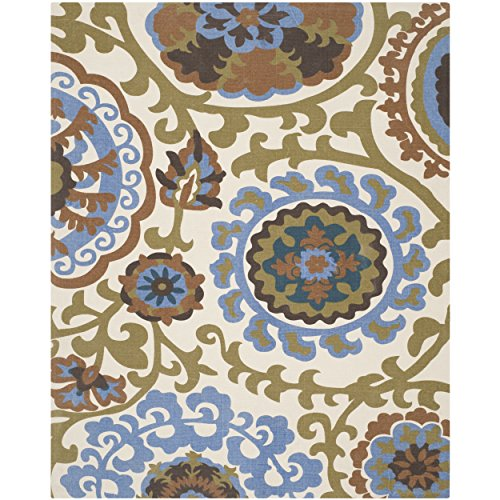 Safavieh Cedar Brook Collection CDR132B Handmade Blue Cotton Area Rug, 7 feet 3 inches by 9 feet 3 inches (7'3