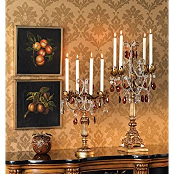"""French Taper 29"""" High Droplets Candelabra"""