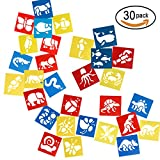 SUBANG 30 Pcs Plastic Animal Painting Drawing Stencil Templates for Kids Crafts, Five Different Patterns of Painting Templates,Washable Template for School Projects