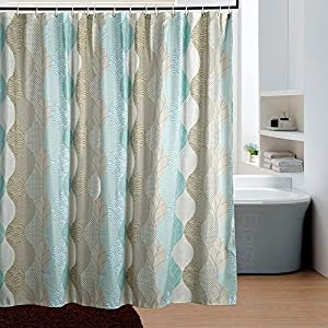 Eforcurtain modern paisley elegant print for Do shower curtains come in different lengths