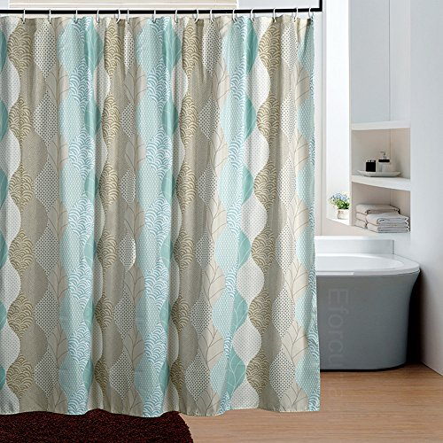 Eforcurtain modern paisley elegant print waterproof fabric for Do shower curtains come in different lengths