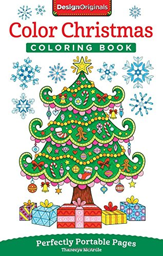 Color Christmas Coloring Book: Perfectly Portable Pages (On-The-Go Coloring Book) by Thaneeya McArdle cover