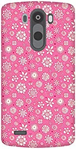 The Racoon Grip Pink Flower Collage hard plastic printed back case / cover for LG G3