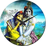MeSleep Radha Krishna Wall Clock With Glass Top
