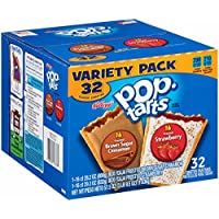 32-Pack Pop-Tarts Variety Frosted Strawberry and Frosted Brown Sugar Cinnamon, 57.50 Ounce
