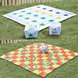 2 In 1 Giant Snakes and Ladders / Tangled Twister Outdoor Garden Game