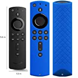 Covers for All-New Alexa Voice Remote for Fire TV Stick 4K, Fire TV Stick (2nd Gen), Fire TV (3rd Gen) Shockproof Protective Silicone Case - Blue (Color: Blue)