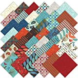 Moda Family Tree Charm Pack, Set of 42 5-inch (12.7cm) Precut Cotton Fabric Squares