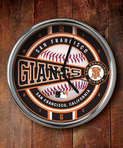 San Francisco Giants Chrome Clock