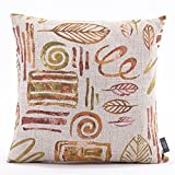 Puredown Pillow and Case Throw pillow cases Sofa Pillow Covers Jacquard Leaf Square 18X18 Inch Multicolor