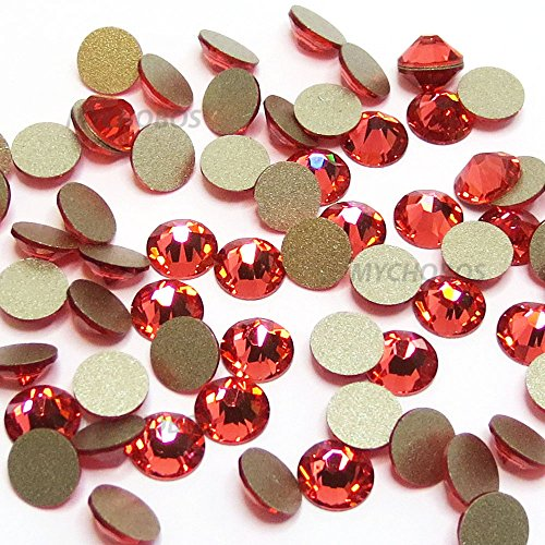 PADPARADSCHA (542) red Swarovski 2058 Xilion Rose 5ss 1.8mm crystal flatback No-Hotfix rhinestones ss5 nail art 720 pcs (5 gross) *FREE Shipping from Mychobos (Crystal-Wholesale)*
