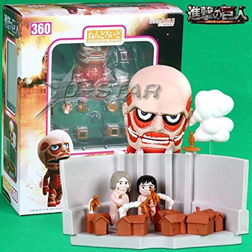 "6pcs Cute 4"" Nendoroid Attack on Titan Shingeki no Kyojin Hoover PVC Action Figure Model Collection Toy Gift #360"