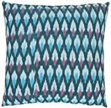 Safavieh Pillow Collection Blue Hawaii 18-Inch Decorative Pillows, Blue and Purple, Set of 2