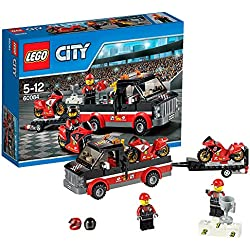 LEGO City - Transporte de la moto de carreras, multicolor (60084)