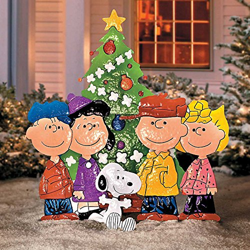 Peanuts Gang Around Tree Yard Art