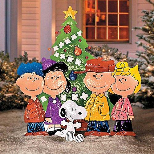 Christmas Carolers Wood Outdoor Yard Art By Chartinisyardart: Peanuts Christmas Yard Stakes