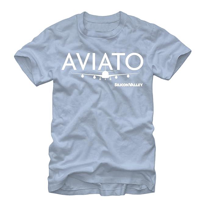 Light Blue Silicon Valley Aviato Logo T-Shirt