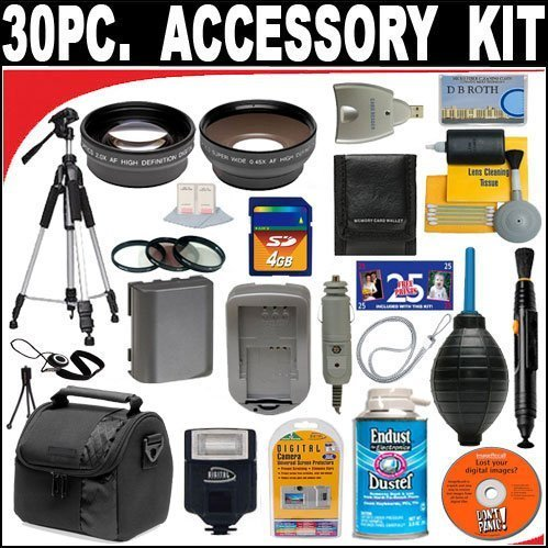 30 PC ULTIMATE SUPER SAVINGS DELUXE DB ROTH ACCESSORY KIT, INCLUDES FLASH, LENSES, FILTERS, ACCESSORIES AND Much MORE! For The Samsung NX11 Digital Camera Which Has The 18-55mm Lens