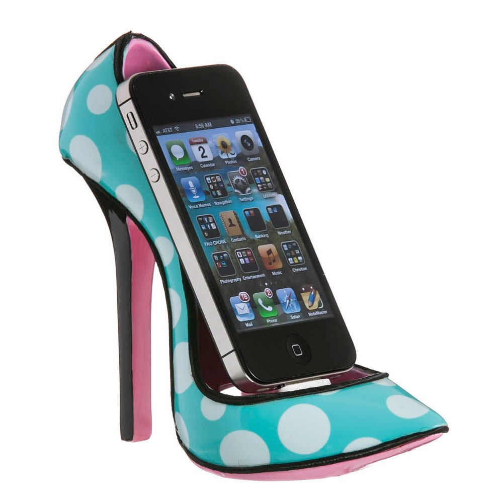 high heel shoe cell phone holder