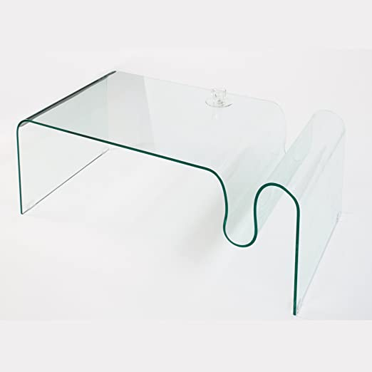 Invicta Interior 22867 Couchtisch Ghost, Glas, 115cm