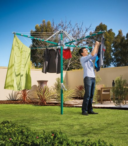 Hills Rotary 6 Washing Line - Forest Glade Green - FREE DELIVERY
