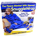 Adult snuggle wrap blanket with sleeves (Blue)by DRW