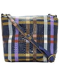 Stylocus - Ladies Sling Bag - Checks Print Sling Bag - Faux Leather Sling Bag
