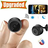 [Upgraded] Spy Camera Wireless Hidden Cameras Mini WiFi Cam HD 1080P Small Nanny Cams Home Security Battery Powered Motion Detection Nigh Vision Remote View by Android/iPhone/PC (Tamaño: Mini Spy Cam + 1080p by Android/iPhone/PC)