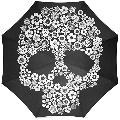 Grrl Cool Sugar Skull Print Foldable Umbrella YS060531