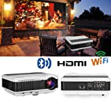 EUG Wireless Projector HD 1080P 3900 Lumen Video Projectors Outdoor Movie Android System,Airplay Miracast Wifi USB HDMI LED LCD Multimedia Projeyector for Home Theater Game Consoles Apps PC DVD (Color: Wireless Projector 3900 Lumens)