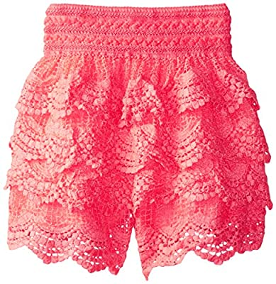 My Michelle Big Girls' All Over Crochet Tiered Short by My Michelle Children's Apparel