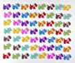 Pack of 50PCS Puppy Buttons-Mixed Wood Buttons Sewing Scrapbooking Flowers Shaped 2 Holes