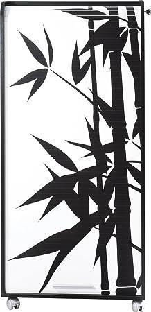 Simmob ORGA140NON912 Bambous 912 Armoire Informatique Mobile avec 2 Tiroirs Bois Noir 53,1 x 65,2 x 139,9 cm