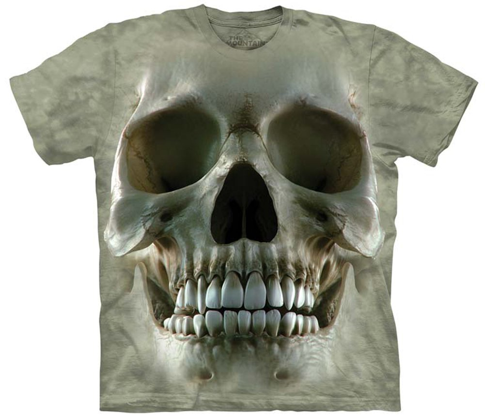 Unisex-Adult Big Face Skull Short Sleeve T-Shirt
