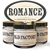 Scented Candles - Romance - Set of 3: Rose Petals, Champagne, and Dark Chocolate - 3 x 4-Ounce Soy Candles