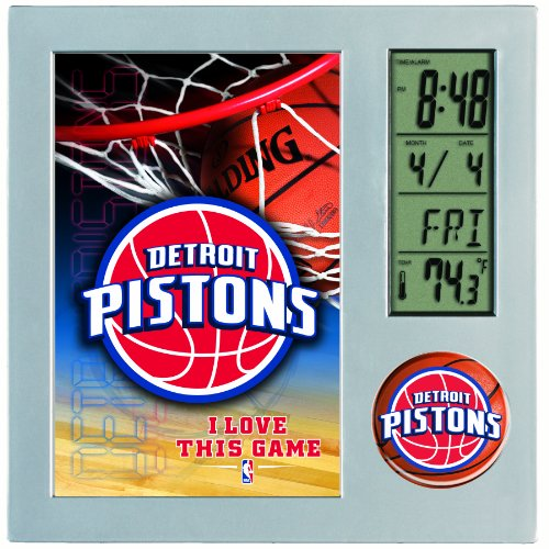 NBA Detroit Pistons Digital Desk Clock