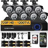 DEFEWAY 8 720P HD 1200TVL Surveilla