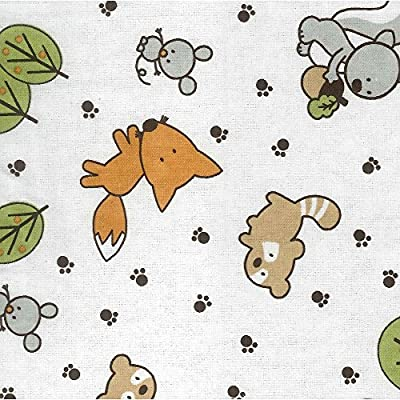 Trend Lab Flannel Crib Sheet - Forest Animals