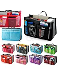 Multi-Purpose Travel Nylon Handbag Purse Switcher Travel Pouch ( Multi Colour )